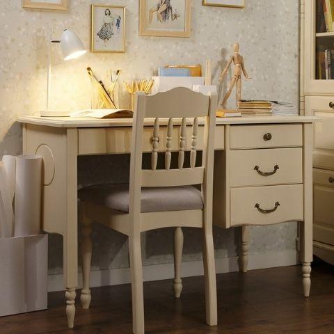 Письменный стол из массива Айно 8 (белый скандик)