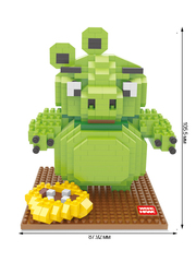 Конструктор Wisehawk Свин Злобные птички 551 деталь NO. 2428 Pig Angry Birds Series Nano Block