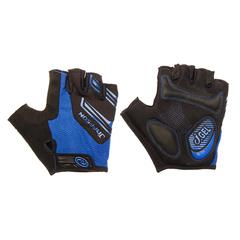 Велоперчатки JAFFSON SCG 46-0331 (чёрный/синий)