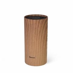 2880  FISSMAN Подставка для кухонных ножей 11x22см круглая, цвет ДЕРЕВО (пластик)