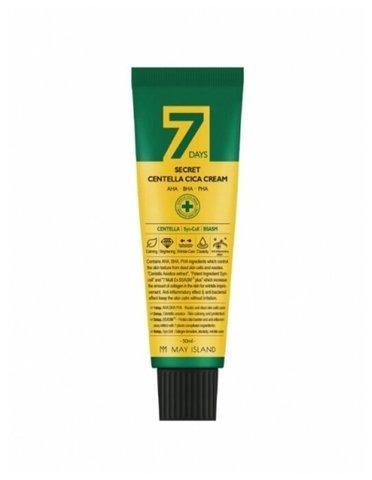 Крем для проблемной кожи с AHA/BHA/PHA кислотами и центеллой азиатской 7 Days Secret Centella Cica Сream 50 мл.