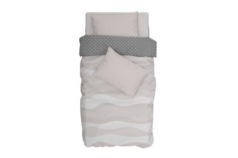 Комплект постельного белья поплин Tetrix бежевый