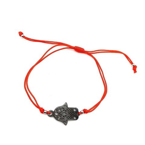 12038- Браслет-красная нить c подвеской