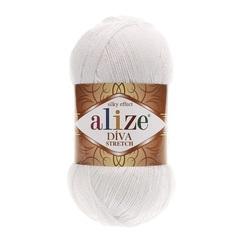 Пряжа Alize Diva Stretch цвет 055