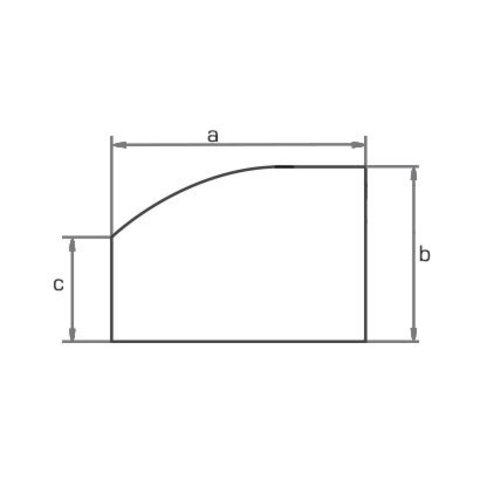 Экран для стола криволинейный 70х54 см МОНО-ЛЮКС