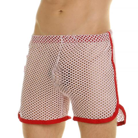Мужские шорты домашние сиреневые сетчатые Van Baam 44766