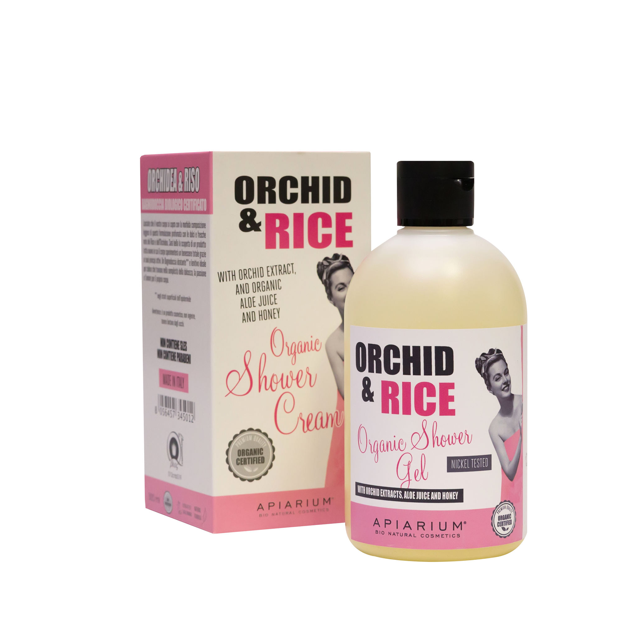 Гель для душа Apiarium Rice & Orchid Organic Shower Gel Рис и Орхидея 300 мл