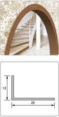 Угол арочный ПВХ 20*12 ясень серый