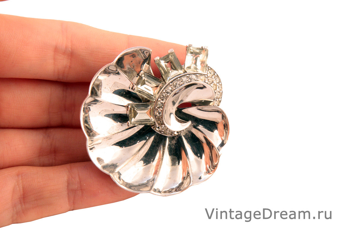 Редкий серебряный фур-клип от Boucher, 1945 год