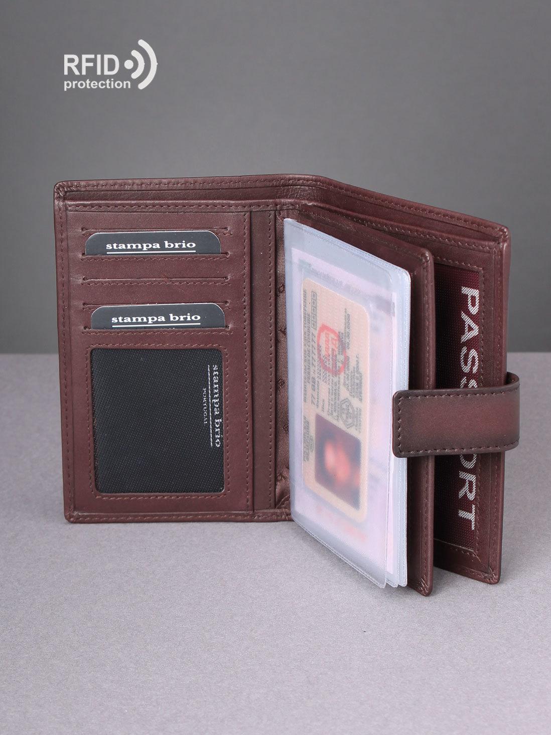 130 R - Портмоне 4в1 с отделениями для документов и RFID защитой