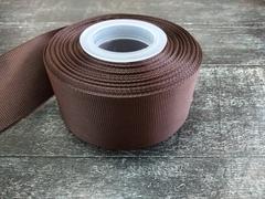 Лента репсовая 4см*25ярд (Шоколад №136)