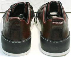 Городские кроссовки кеды на высокой подошве мужские Luciano Bellini C6401 MC Bordo.
