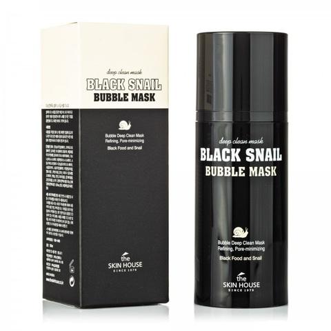 The Skin House Black Snail Bubble Mask очищающая пузырьковая кислородная маска с экстрактом улитки