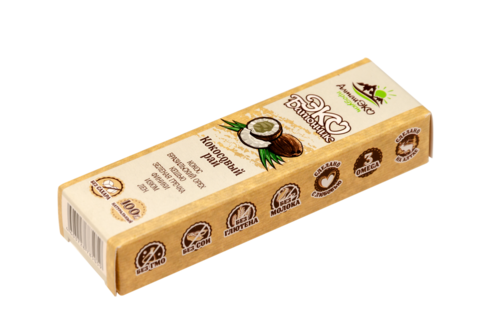 """Эко-батончик фруктово-ореховый """"Кокосовый рай"""" без сахара, 45 г"""