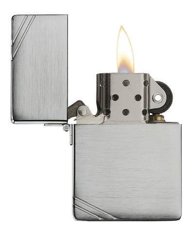 Зажигалка Zippo Replica, с покрытием Brushed Chrome, латунь/сталь, серебристая, матовая, 36x12x