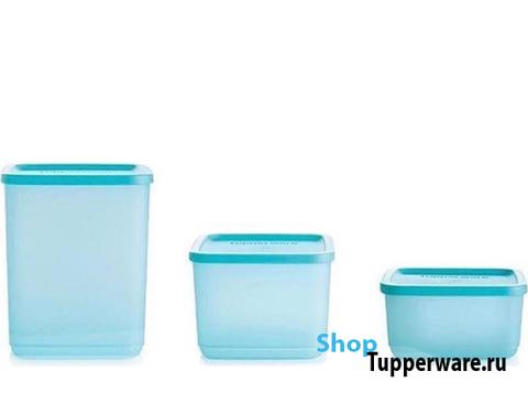 Набор контейнеров Кубикс в голубом цвете