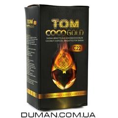 Натуральный кокосовый уголь для кальяна Tom Cococha Gold C22 (Том Кокоча) |1кг 96куб 22*22мм