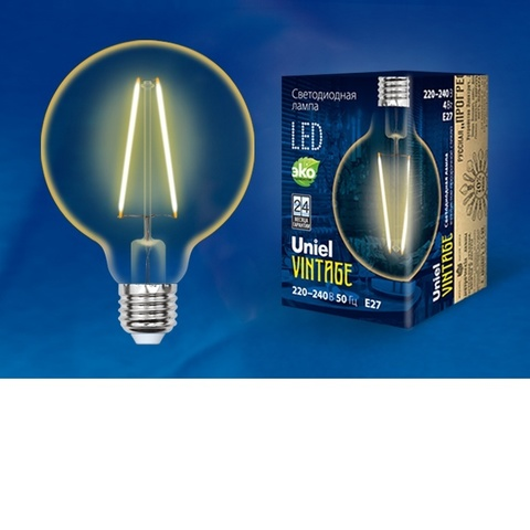 Лампа светодиодная UNIEL LED-G80-4W/GOLDEN/E27