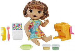 Кукла Hasbro Baby Alive Малышка брюнетка и макароны