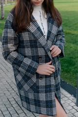 Пальто из кашемира в клетку Nadya