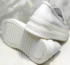 Женские белые кеды туфли с белой подошвой Derem 372-17 All White.