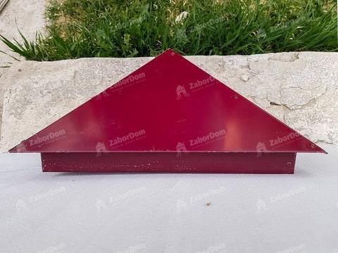 Колпак металлический на столб Эконом RAL 3005 5 шт
