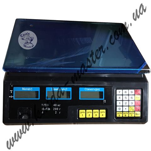 Электронные торговые весы до 40 кг