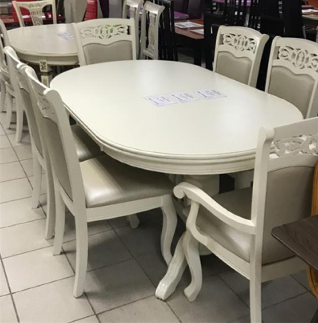 Стол обеденный AVANTI LOUISIANA (180) WHITE T (белый)
