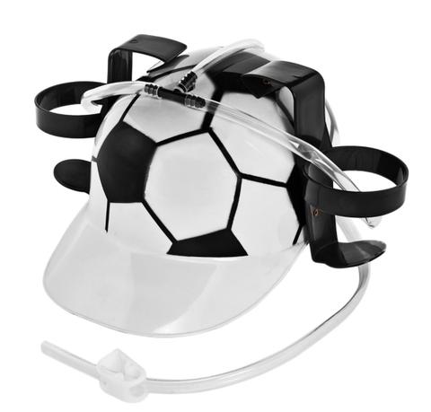 Каска с подставкой под банки «Футбол»