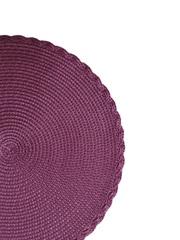 Комплект из 4-х круглых кухонных термосалфеток Dutamel плейсмат салфетка сервировочная диаметр 30 см - плетеная фиолетовая DTM-030 окантовка косичка
