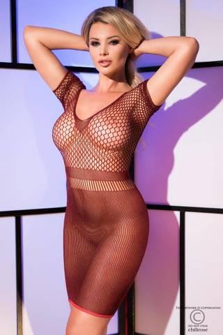 Платье с крупной сеткой на груди - Chilirose, размер XL/XXL