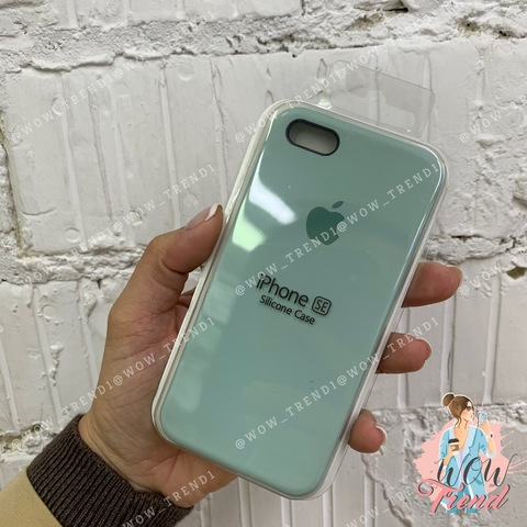 Чехол iPhone 5/5s/SE Silicone Case /mint/ мята 1:1