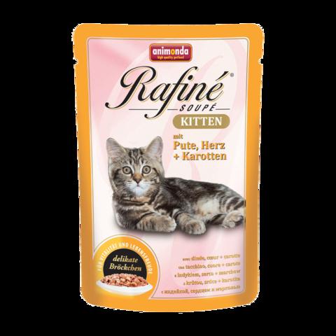 Animonda Rafinе Kitten Консервы для котят с индейкой, сердцем и морковью (пауч)