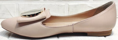 Женские лодочки туфли на низком ходу Wollen G192-878-322 Light Pink.