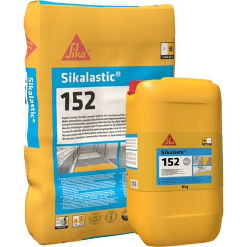 Sika Sikalastic-152 RU/Сика Сикаластик-152 РУ Эластичная гидроизоляция и защита бетона на цементно-полимерной основе с армирующим волокном