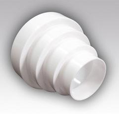 Соединитель-елочка центральный 80х100х125х150 мм пластиковый