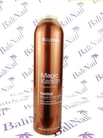 Magic Keratin Мусс для укладки волос норм. фиксации с кератином, 400 мл