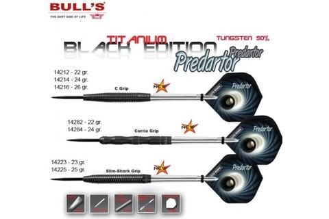 Дротики для дартса (3шт.) Bull's Tit. Predartor, вольфрам 90,  23g (артикул 14243)