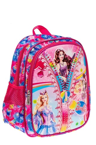 Детский рюкзак из текстиля с ярким принтом, цвет малиновый