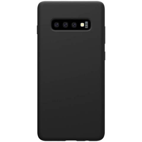 Силиконовый бампер Nillkin Flex Pure для Samsung Galaxy S10 (Черный)