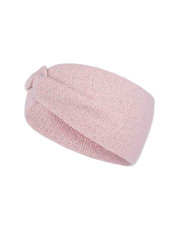 Женская повязка на голову розового цвета из кашемира - фото 1