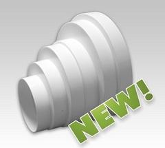 Соединитель-елочка эксцентриковый 80х100х120х125х150х160 мм пластиковый