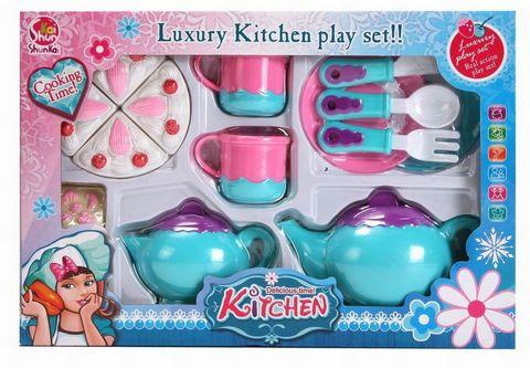 Набор посуды с тортиком (в коробке, 35х24х7 см.), SK77A
