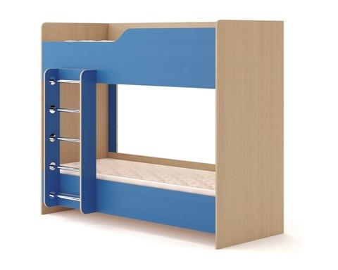 Кровать КР-12 дуб белёный / синий