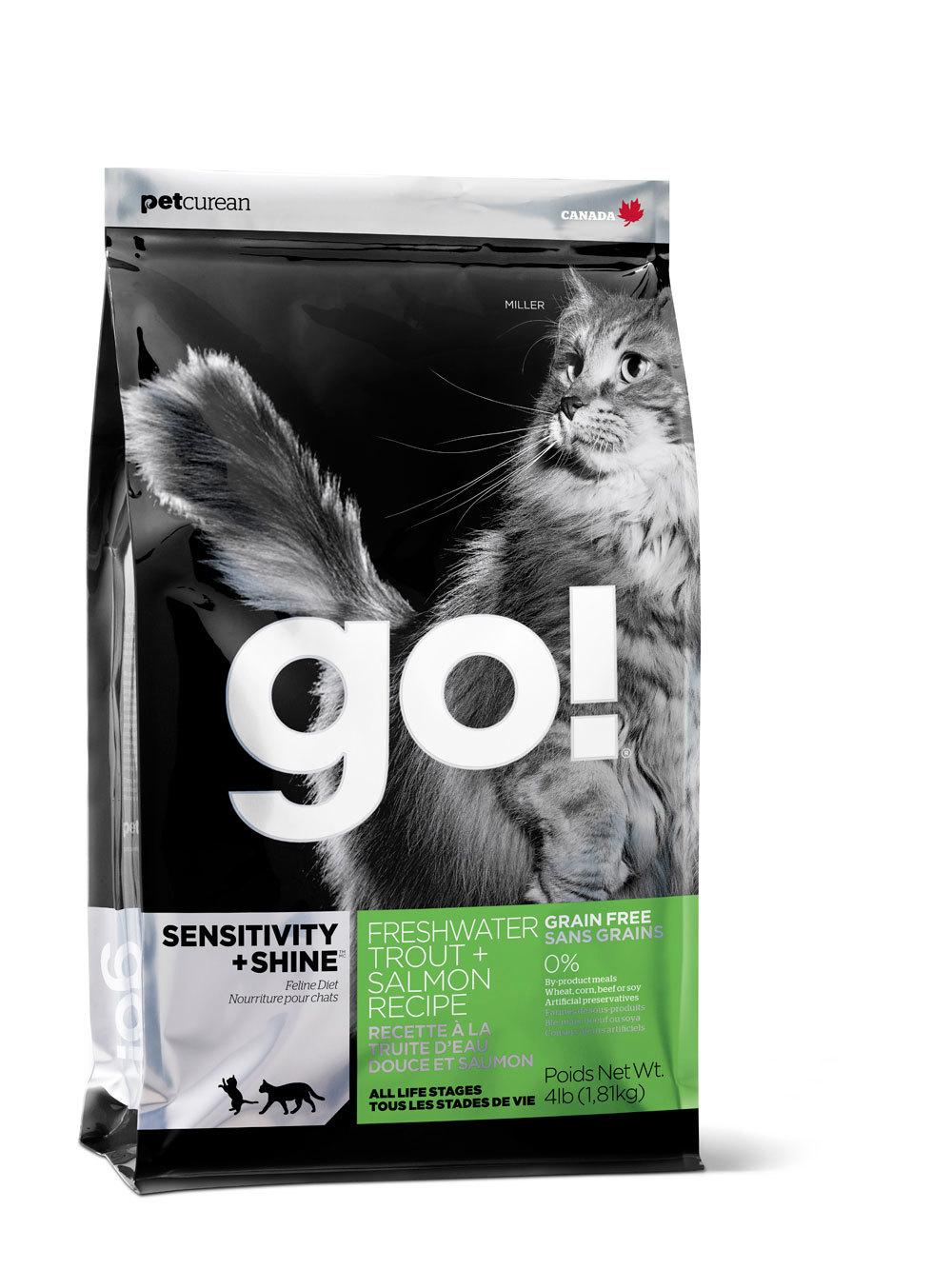 сухой беззерновой корм Go Гоу для котят и кошек с форелью и лососем для чувствительного пищеварения