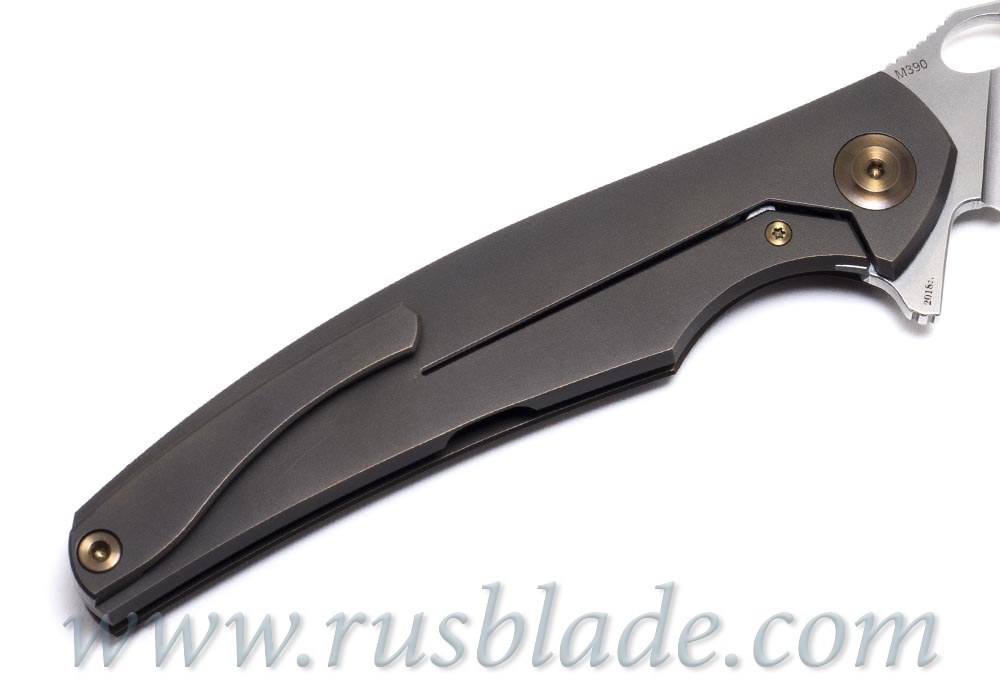 Cheburkov Raven M390 Titanium CF Folding Knife - фотография