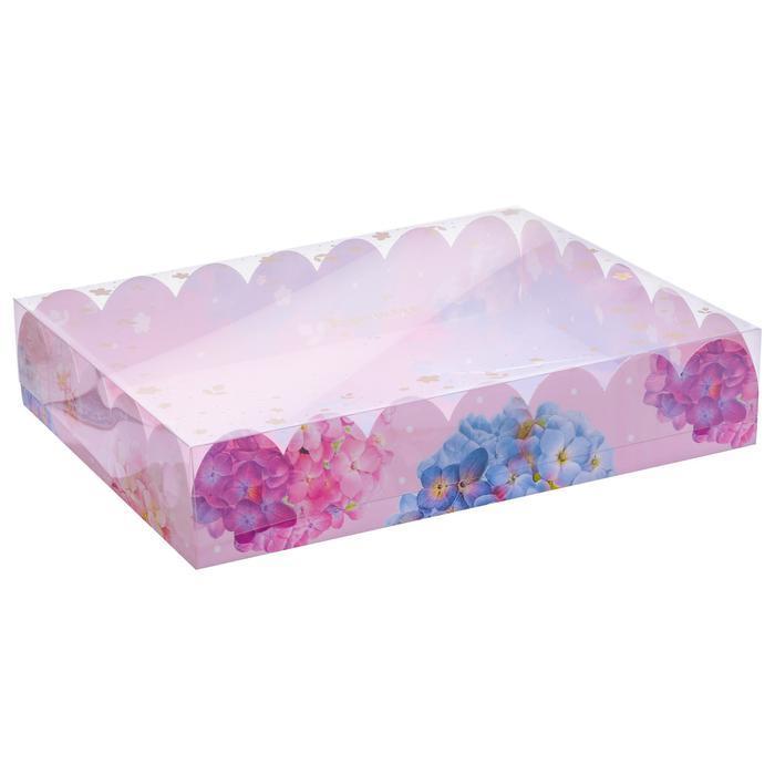 Коробка подарочная с PVC-крышкой «Ты чудесна», 30 × 40 × 8 см