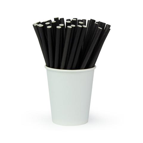 Трубочки для коктейлей «Черная», 240*6 мм