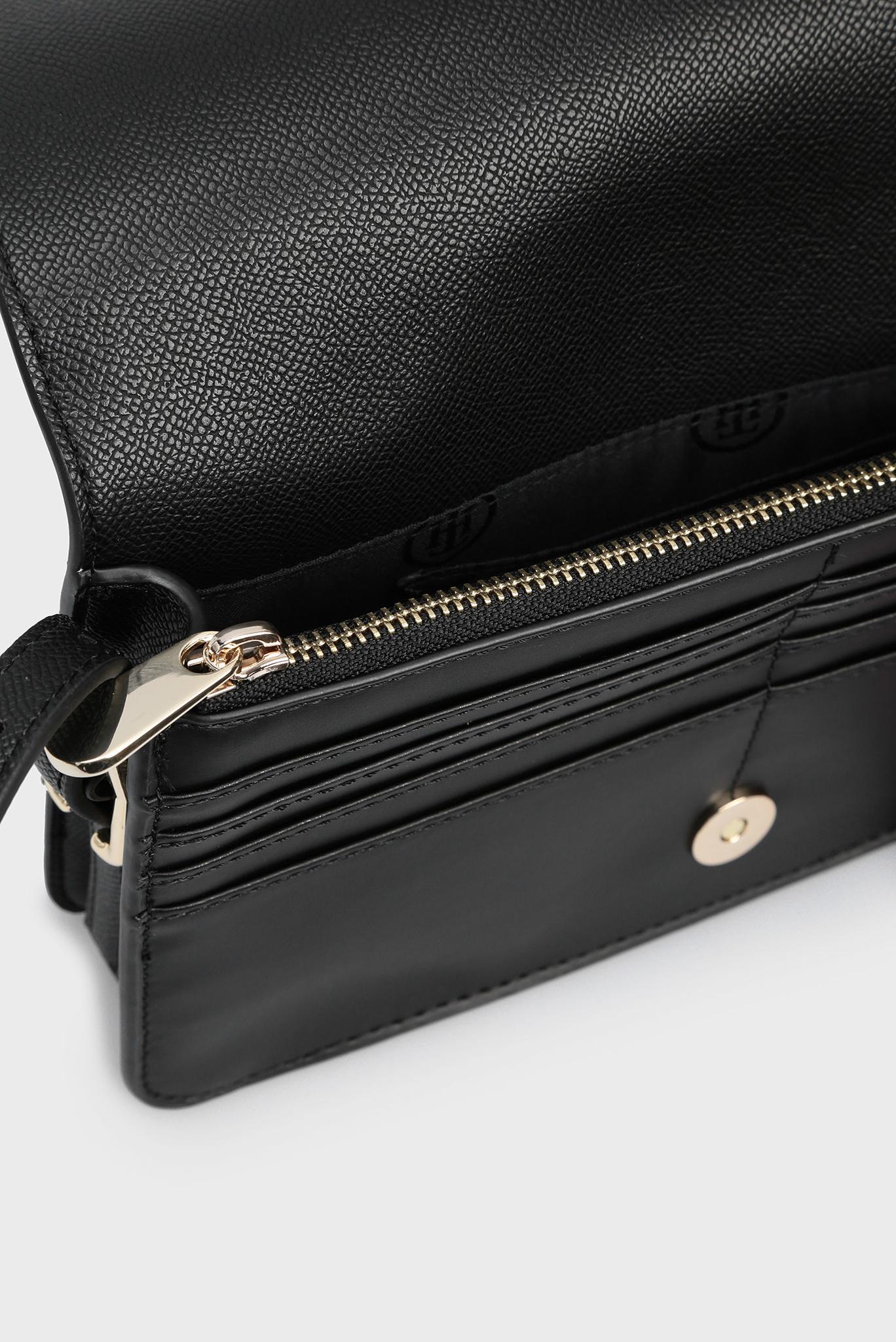 Женская черная сумка через плечо HONEY FLAP Tommy Hilfiger