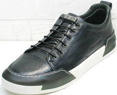 Модные мужские кроссовки с высокой подошвой весна осень Luciano Bellini C6401 TK Blue.